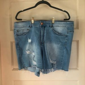 Love and Legend jean shorts
